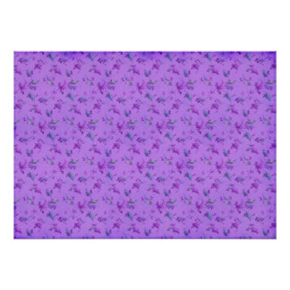 Lovely Purple Floral Posters