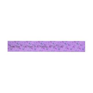 Lovely Purple Floral Wraparound Address Label
