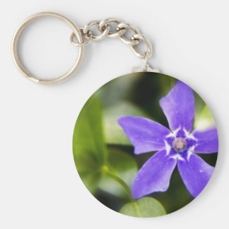 Lovely Purple Flower Keychain