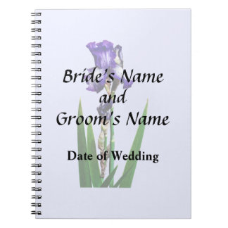 Lovely Purple Iris Notebook