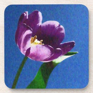 lovely purple tulip custom coasters