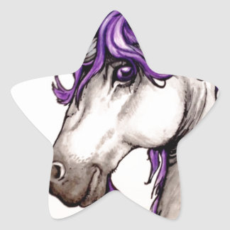 Lovely purple unicorn star sticker