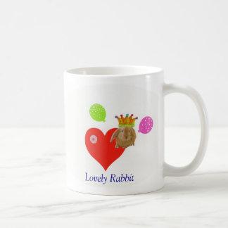 Lovely Rabbit Classic White Coffee Mug