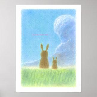 Lovely Rabbits Poster