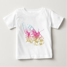 Lovely Rainbow Butterfly Print Baby T-Shirt