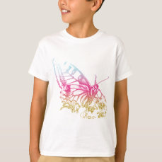 Lovely Rainbow Butterfly Print T-Shirt
