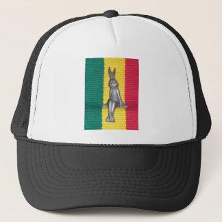 Lovely Rasta Colors Rabbit Kingston Jamaica Glory Trucker Hat
