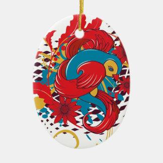 lovely red bird vector art christmas ornaments