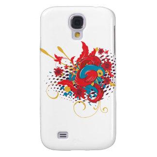 lovely red bird vector art galaxy s4 case
