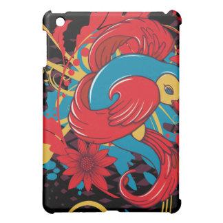 lovely red bird vector art iPad mini case