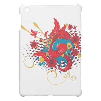 lovely red bird vector art iPad mini cover