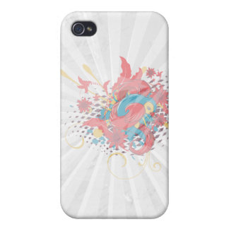lovely red bird vector art iPhone 4/4S cover
