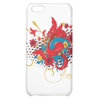 lovely red bird vector art iPhone 5C case