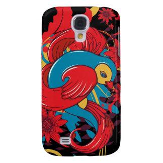 lovely red bird vector art samsung galaxy s4 case