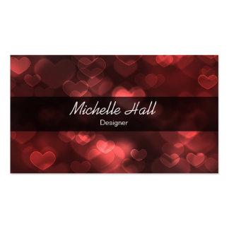 Lovely Red Business Card