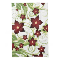 lovely red floral towels