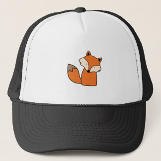 Lovely red fox trucker hat