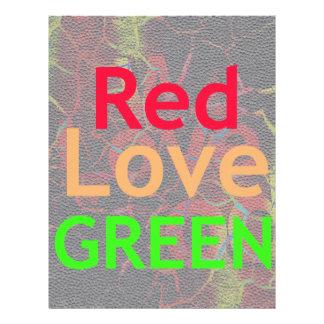 LOVELY RED GOLDEN GREEN LETTERHEAD