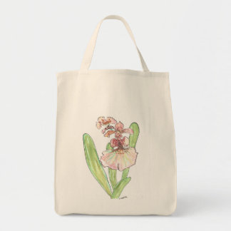 Lovely Red Orchid Grocery Tote