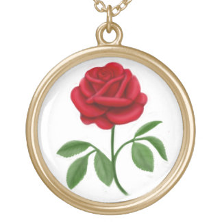 Lovely Red Rose Necklace