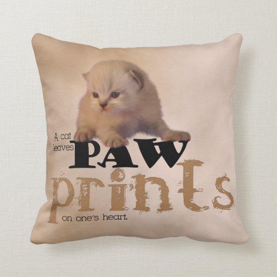 Lovely  Red/White Kitten Pillow