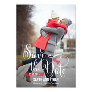 "Lovely Request Save The Date - Editable Color 5"" X 7"" Invitation Card"