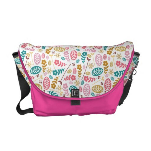 Lovely Retro Floral Abstract Bag Commuter Bag