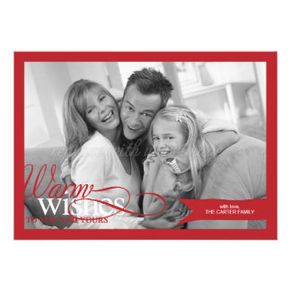 Lovely Ribbon Christmas Holiday Photo Card Personalized Announcement
