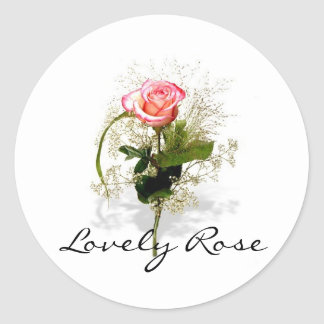 Lovely Rose Collection Classic Round Sticker