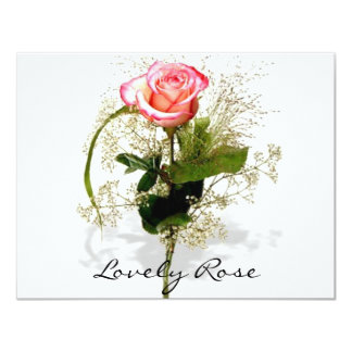 Lovely Rose Collection 4.25x5.5 Paper Invitation Card