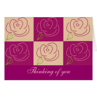 Lovely rose note card