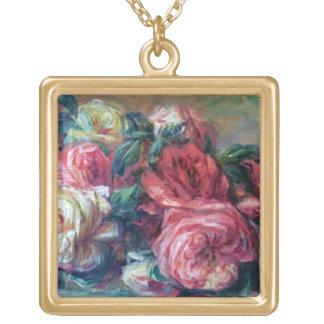 Lovely Roses Flower Painting Renoir Fine Art Custom Jewelry