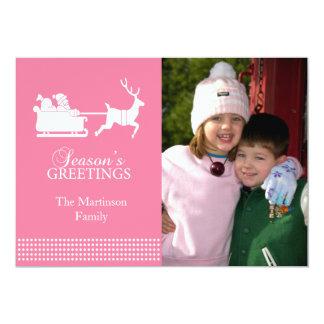Lovely Santa Christmas Card (Pink)