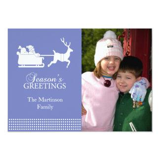 Lovely Santa Christmas Card (Purple)