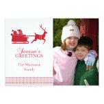 "Lovely Santa Christmas Card (Red) 5"" X 7"" Invitation Card"