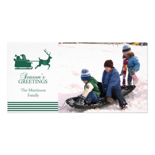 Lovely Santa Christmas Photo Card (Evergreen)