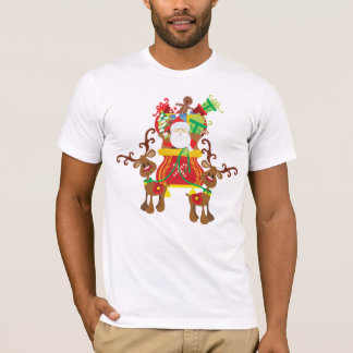 Lovely Santa Claus and Reindeers   Shirt