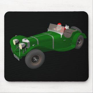 Lovely Santa Claus Jaguar SS 90 Driver Mouse Pad