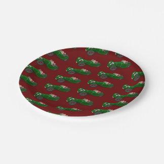 Lovely Santa Claus Jaguar SS 90 Driver Paper Plate