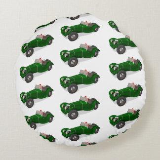 Lovely Santa Claus Jaguar SS 90 Driver Round Pillow