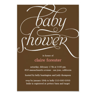Lovely Script Baby Shower Invitation (Pink)