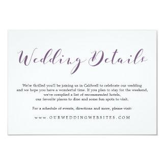Lovely Script Details | WEDDINGS Card