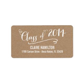 Lovely Script Graduation Labels - Craft Labels