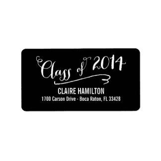 Lovely Script Graduation Labels - Editable Color Custom Address Labels