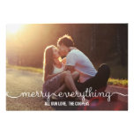 LOVELY SCRIPT Holiday Photo Cards Personalized Announcement
