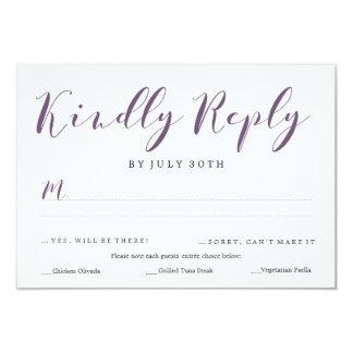 Lovely Script RSVP | WEDDINGS Card