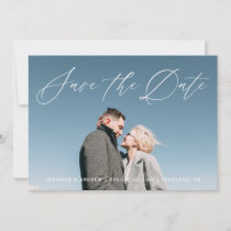 Lovely Script | Save The Date Photo Announcement