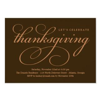 Lovely Script Thanksgiving Dinner Invitation