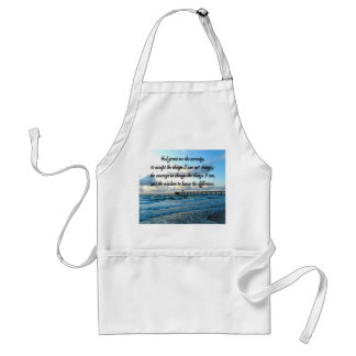 LOVELY SERENITY PRAYER OCEAN AND WAVES PHOTO ADULT APRON