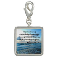 LOVELY SERENITY PRAYER OCEAN AND WAVES PHOTO CHARMS
